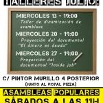 Cartel de los talleres de Julio